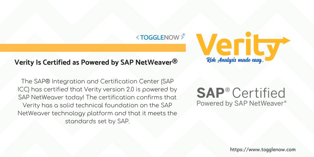 Verity Is Certified as Powered by SAP NetWeaver®